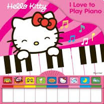 Hello Kitty loves playing the piano♪♫
