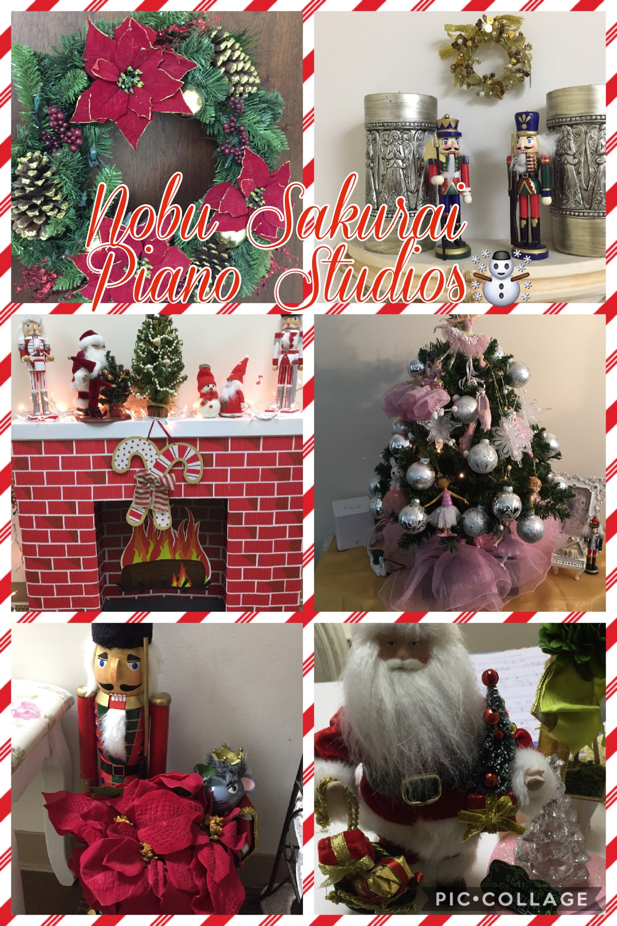 Beautiful Christmas Decorations at our studio!
