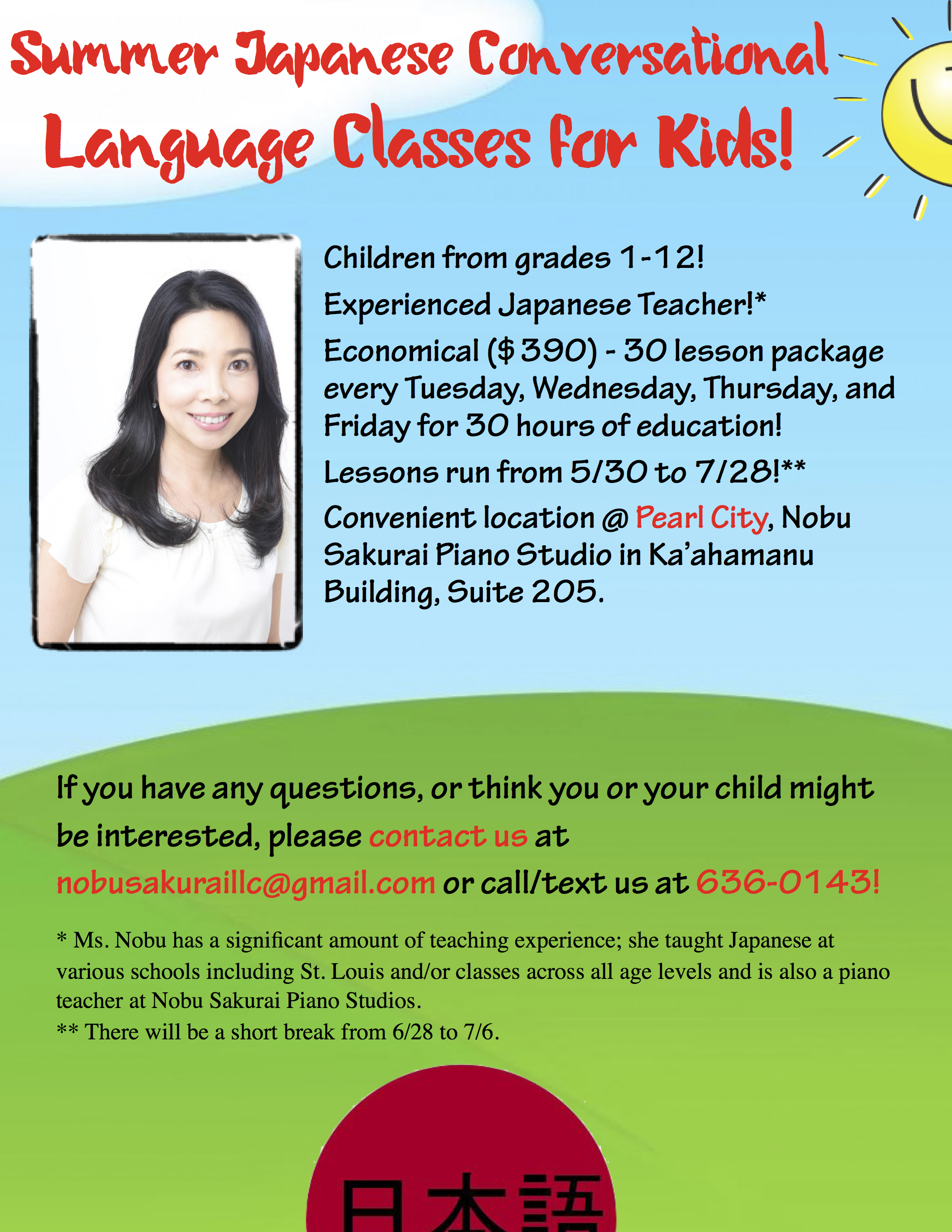 Japanese Conversational Language Classes for Children!
